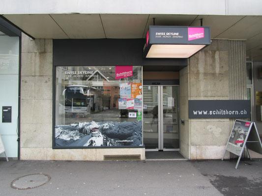 Leuchtkasten Vordach Schilthornbahn Shop