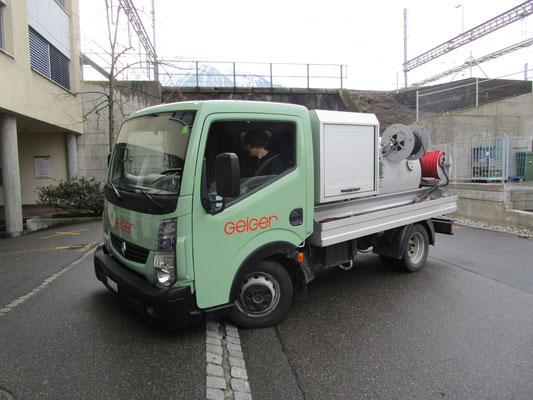 Folierung Spühlwagen