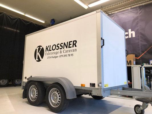 Beschriftung Kofferanhänger Klossner