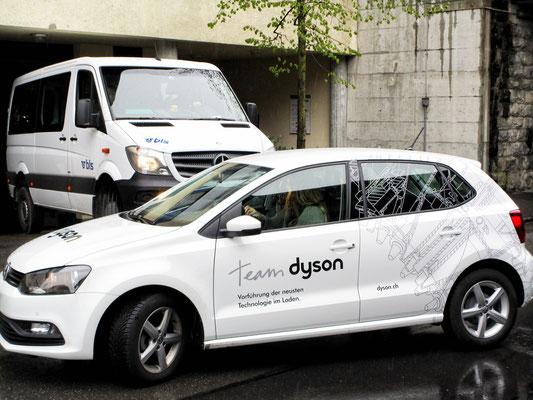 Beschriftung Fahrzeuge Dyson