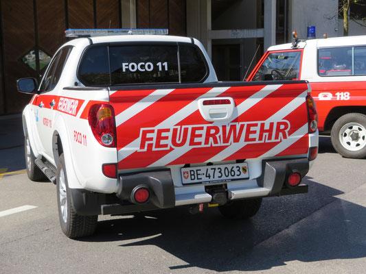 Beschriftung Mitsubishi Pick Up Feuerwehr Spiez