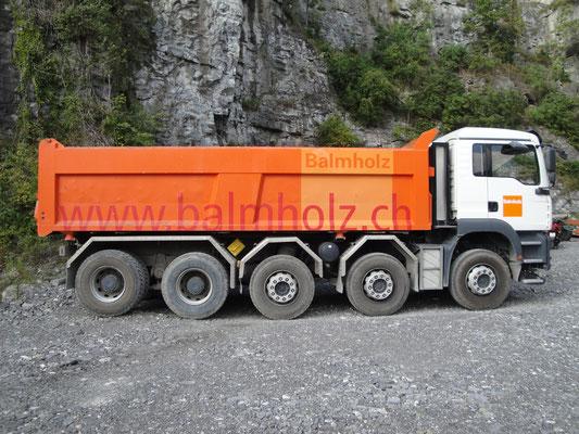 Beschriftung LKW Flotte Balmholz