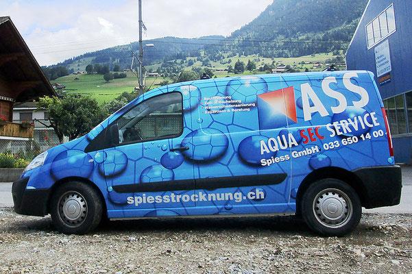Vollverklebung Fiat Scudo Spiess Trocknung Adelboden