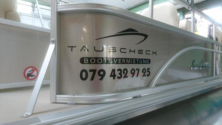 Folienlogo Tauscheck Bootswerft Thun