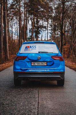 Beschriftung Firmenfahrzeug ASS Spiess Adelboden