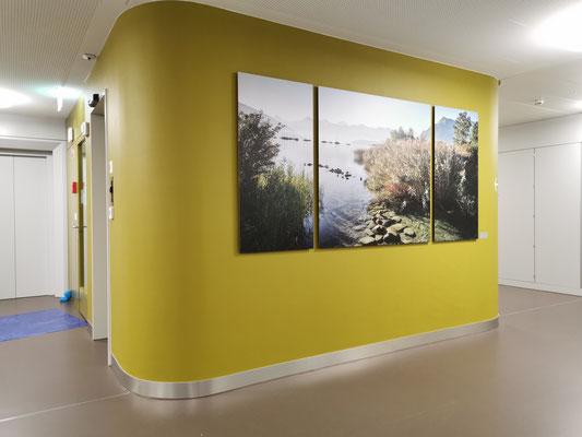Fotoprint auf Aluverbundplatte Durchgang Spital Thun