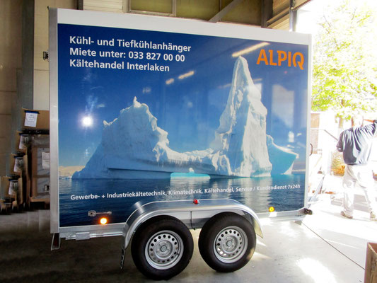 Beschriftung Anhänger Alpiq