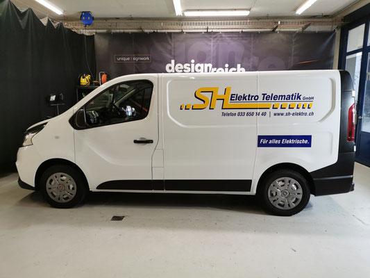 Autowerbung Servicewagen SH Elektro Spiez