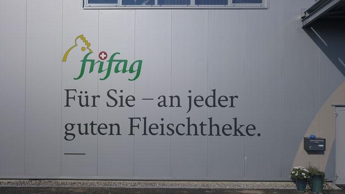 Fassadenbeschriftung frifag Schüpfen