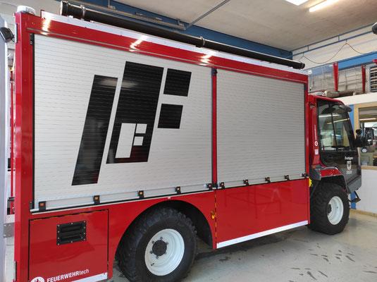 Beschriftung Einsatzfahrzeug Feuerwehr Frutigen