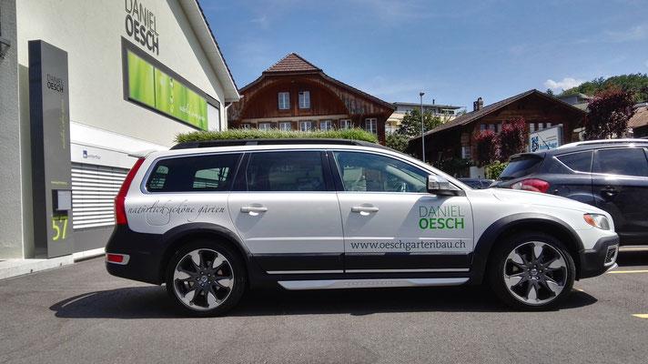 Beschriftung Volvo Daniel Oesch Spiez