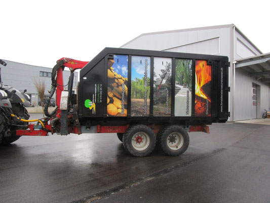 Druck Folien für Anhänger Forstbetriebe