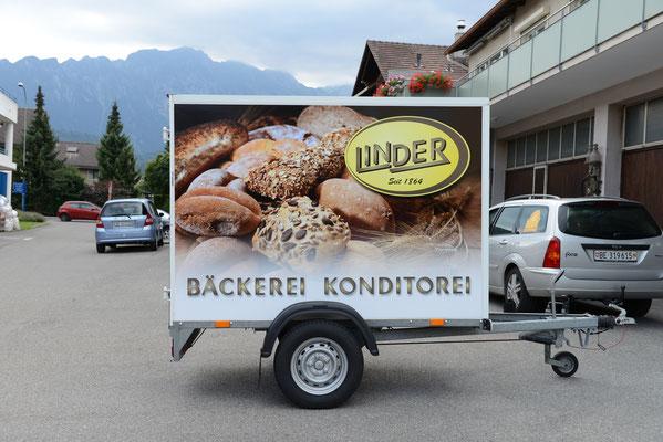Folierung Anhänger Bäckerei Linder
