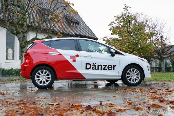 Teilfolierung Fahrzeugflotte Dänzer Werbung