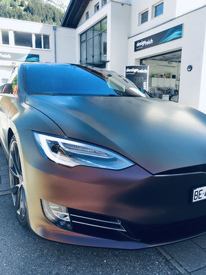 Carwrapping Tesla