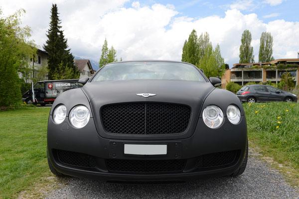 Carwrapping Bentley black matte