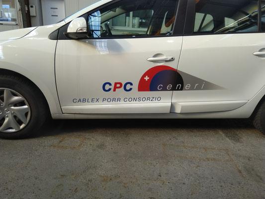 Fahrzeugbeschriftungen CPC ceneri