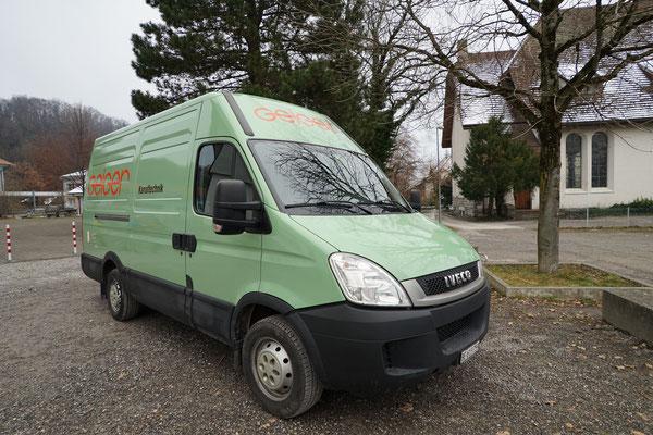 Folienbeschichtung Lieferwagen Geiger Kanaltechnik
