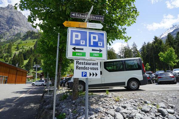 Parkplatzschilder Talstation