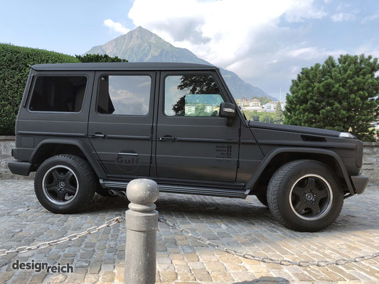 Folierung Mercedes G-Klasse mit 3M Matrix Black
