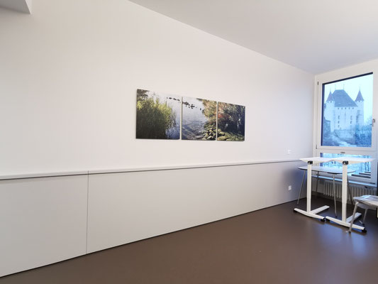 Fotoprint auf Aluverbundplatte Spital Thun