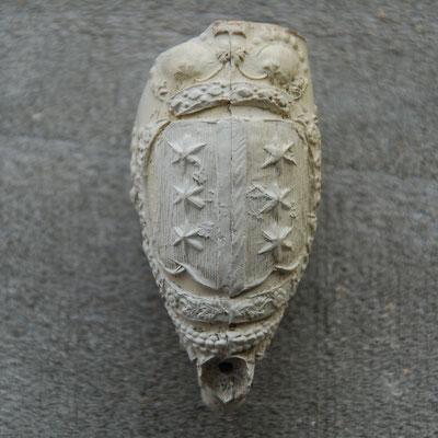 Wapen van Gouda, hielmerk 68 gekroond, ca 1800-1850, Gouda
