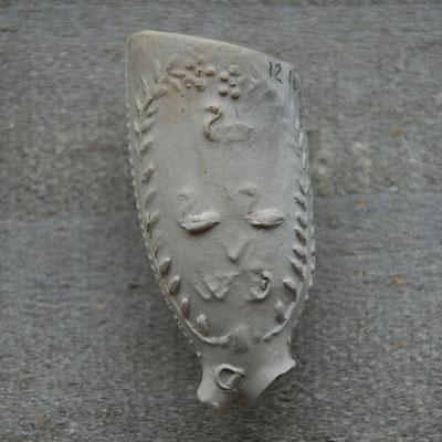 3 zwaantjes met initialen WVD, onbekende maker, ca 1720-1760