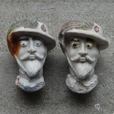 2 miniatuurkopjes van Dutel Gisclon, eind 1800, Frankrijk