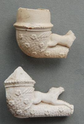 Variatie van paardje met fraai versierde onderkant ketel