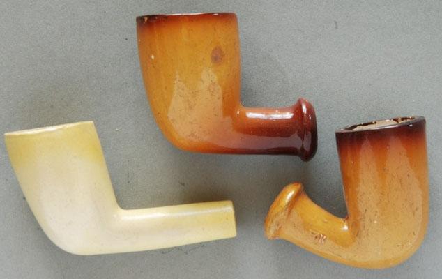 Drietal gelakte pijpen van W.Klauer (1863~)