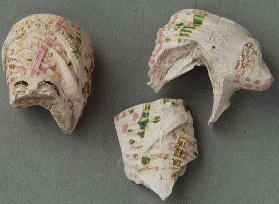 Fragmenten, middelste van middelgrote Jacob met tekst IK BEN DE WARE JACOB