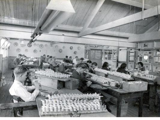 Het afwerken van gegoten pijpen van voor 1940