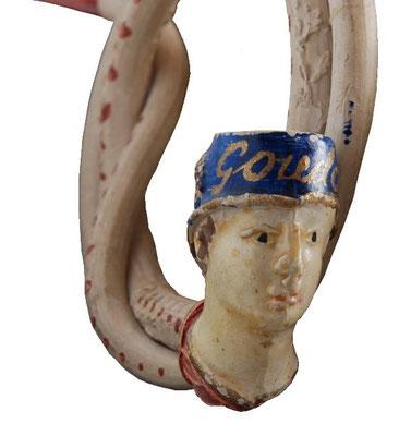 Goudse souvenir krul pijp uit eerste decennia van 1900