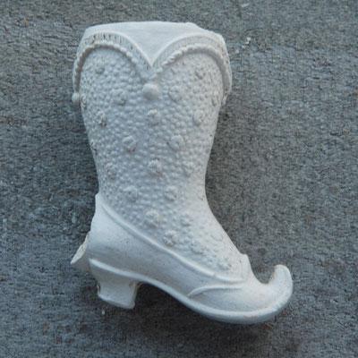 Fraai bewerkte dames laars / schoen met kous