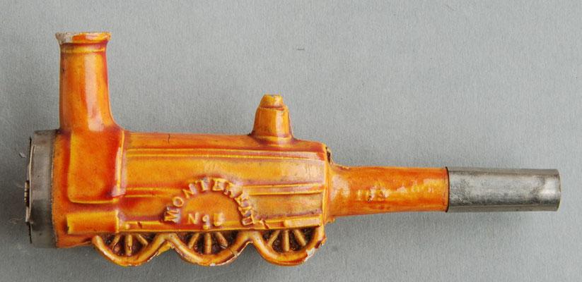 Montereau No 5, op steel het nr 109 (?!). In 1846 werd een dereglijk model locomotief (zgn 'Longboiler') door Alfred Halette ontworpen en gebruikt op de lijn Montereau-Troyes.