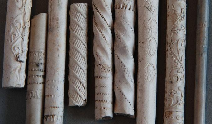 Steelfragmenten van vooral 18e eeuwse pijpen
