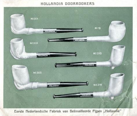 Pagina uit Hollandia Pijpen catalogus
