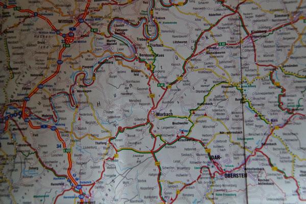 Straßenkarte/Tourenabschnitt