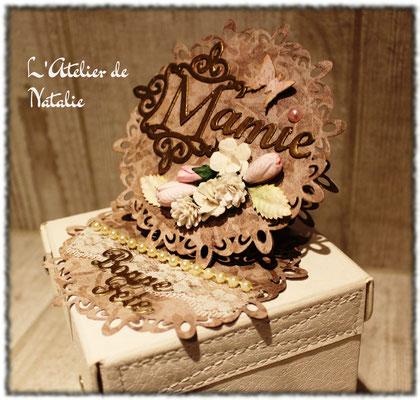 Carte Fête des Grands Mères avec fleurs