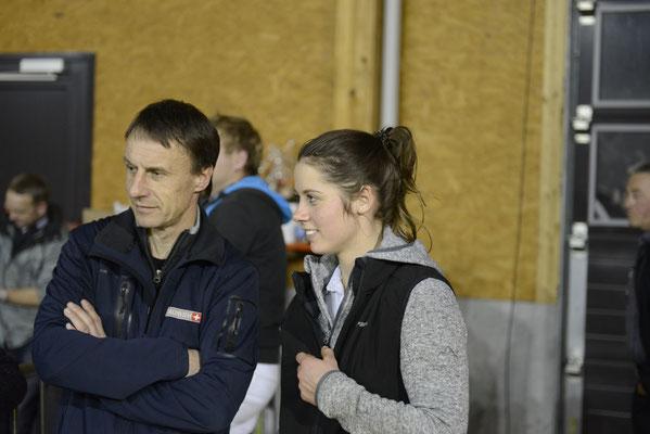 Braunviehkönigin Patrizia mit Präsident Braunvieh Schweiz Reto Grünenfelder