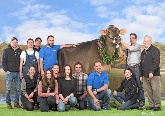 Team Braunvieh an der Swiss Expo 2018