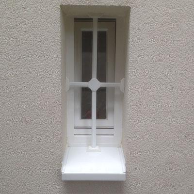 Fenstergittermontage in Hamburg – Fenstergitter mehr als nur Einbruchschutz gegen Einbrecher. Da Fenstergitter zum ersten Eindruck ihres Hauses gehören, haben wir auch an die Ästhetik gedacht Montagebespiel_01