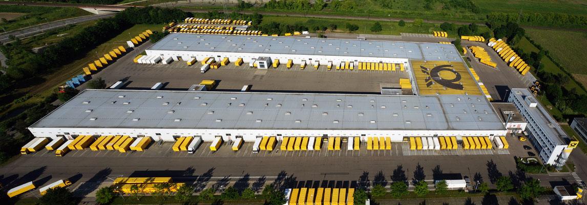 Das Paketzentrum in Augsburg