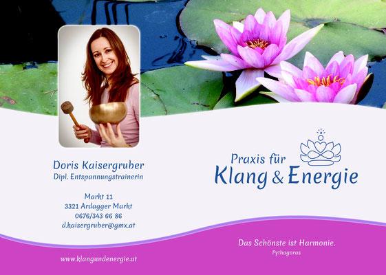 Folder Praxis Klang & Energie - Doris Kaisergruber - Ardagger Markt