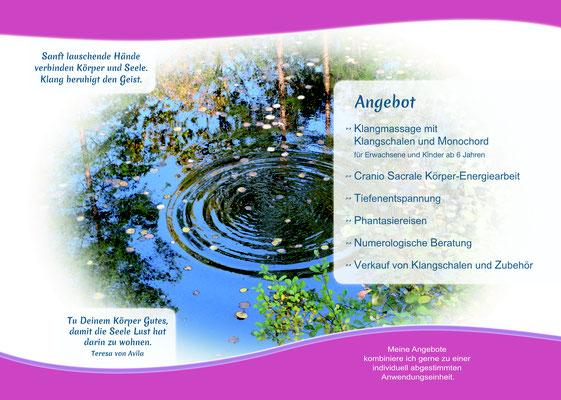 Folder Doris Kaisergruber - Klangmassage - Cranio Sacrale Körper-Energiearbeit - Numerologie