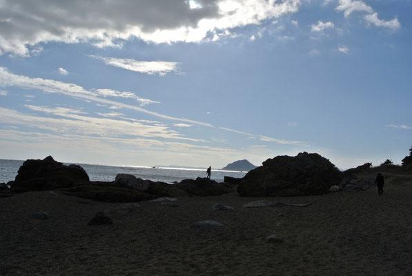 夕暮れの恋路ヶ浜
