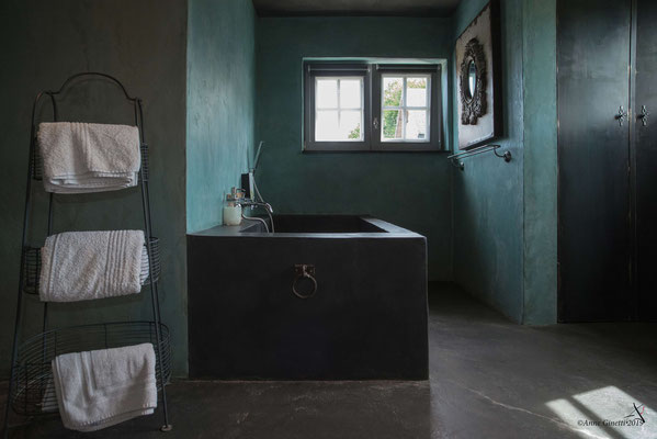 Les Chambres du Vivier, chambres d'hôtes à Durbuy, Ardenne - Chambre Pierre (douche à l'italienne et bain)