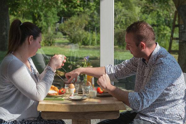 Les Chambres du Vivier, chambres d'hôtes à Durbuy, Ardenne - Petit déjeuner en tête-à-tête