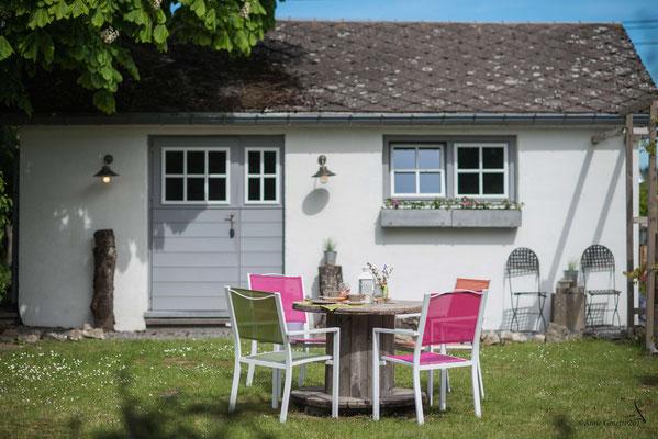 Les Chambres du Vivier, chambres d'hôtes à Durbuy, Ardenne - Vue sur l'entrée de la chambre Pierre