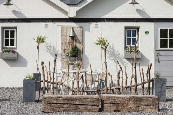 Les Chambres du Vivier, chambres d'hôtes à Durbuy, Ardenne - Façade rapprochée